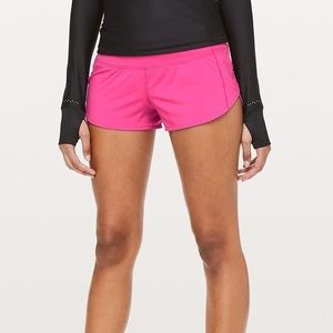 Fushia Lululemon shorts size 10